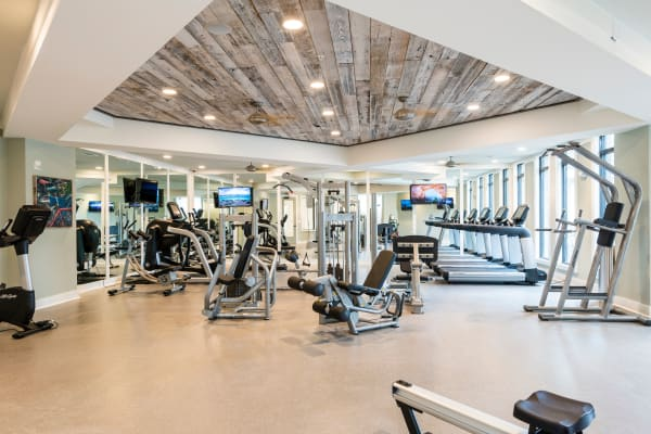 Fitness equipment at The Heyward in Charleston, South Carolina