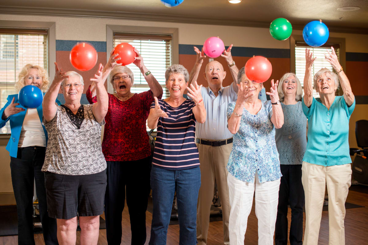 Residents having a party at Isle at Watercrest Mansfield in Mansfield, Texas