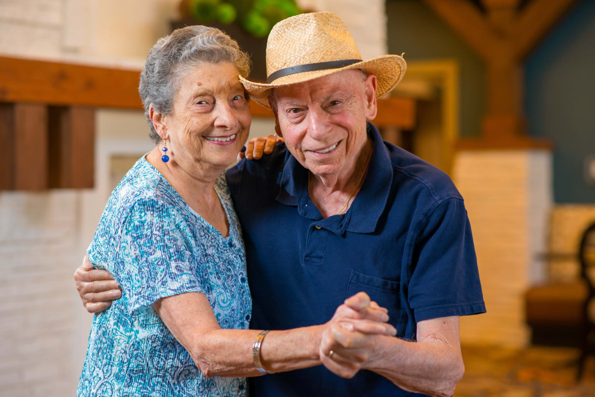 A couple dancing at Isle at Watercrest Mansfield in Mansfield, Texas