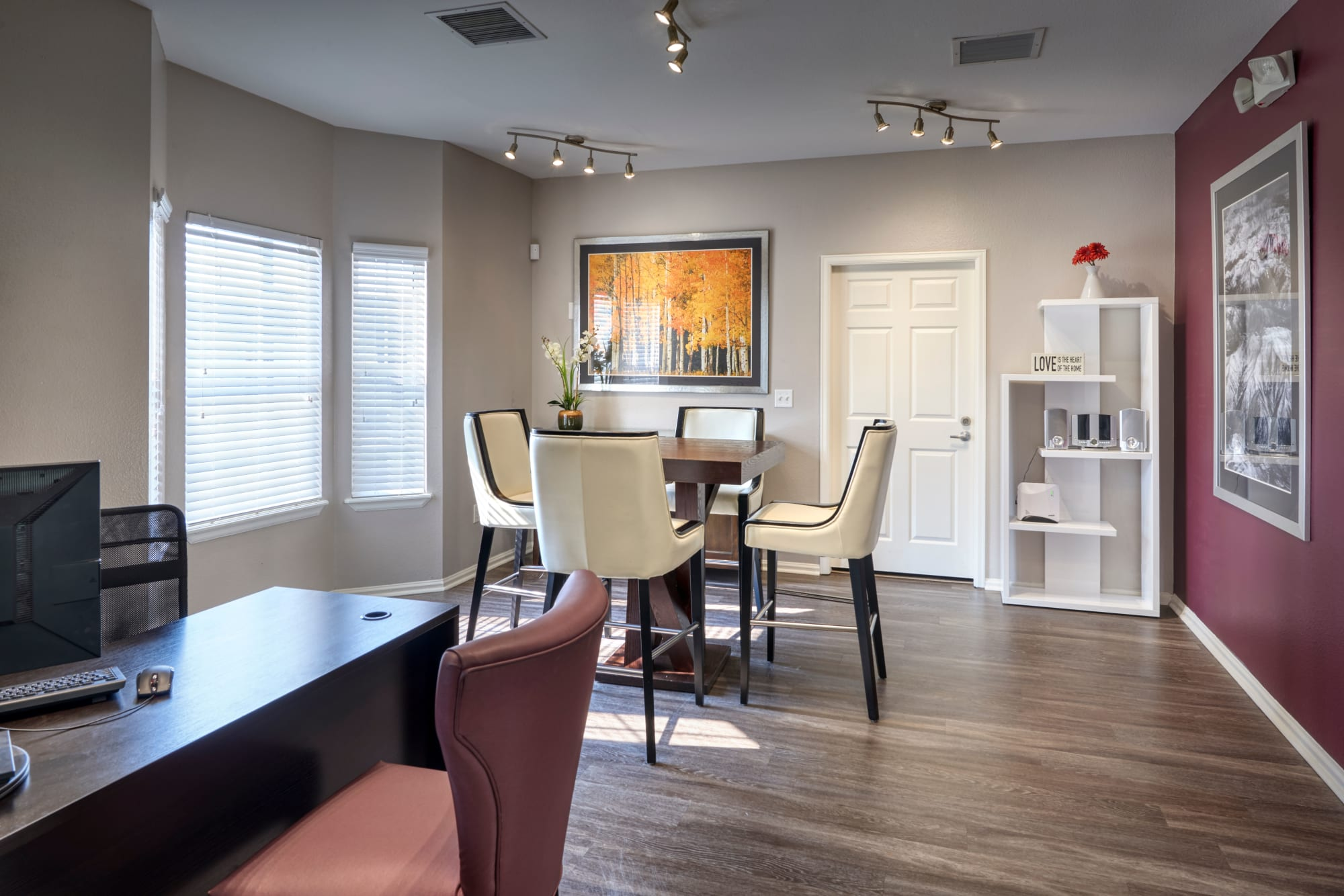 Clubhouse lounge area at Westridge Apartments in Aurora, Colorado