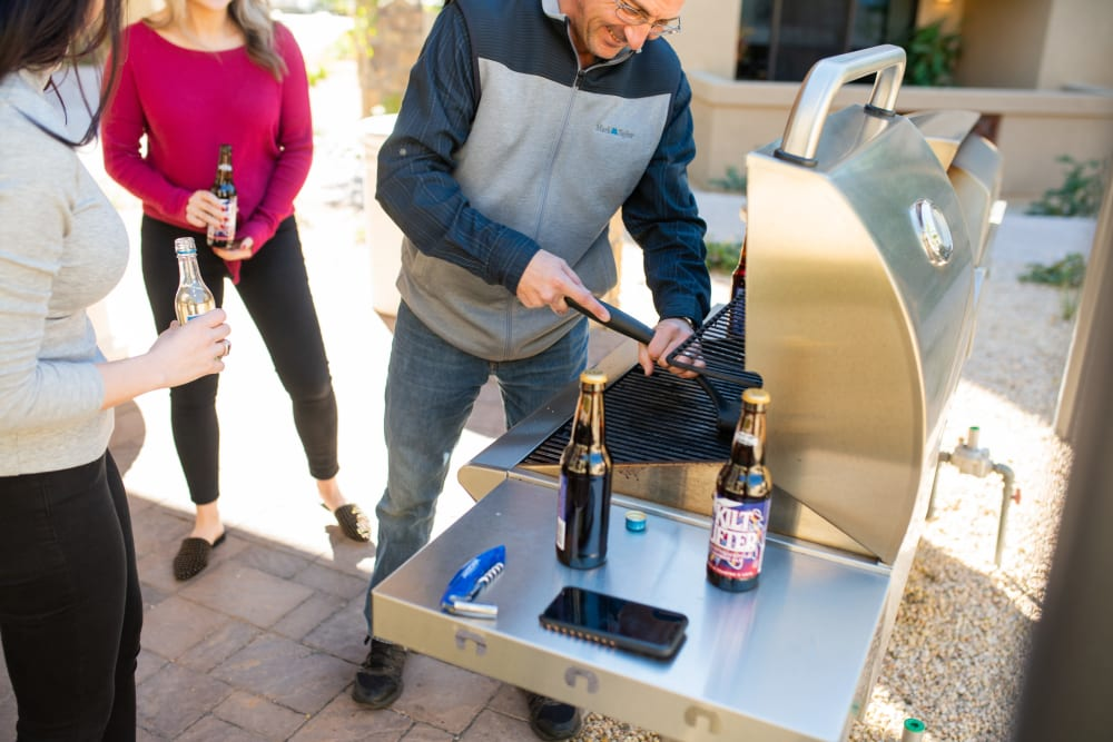 Residents grilling at Ravenwood Heights in Tempe, Arizona