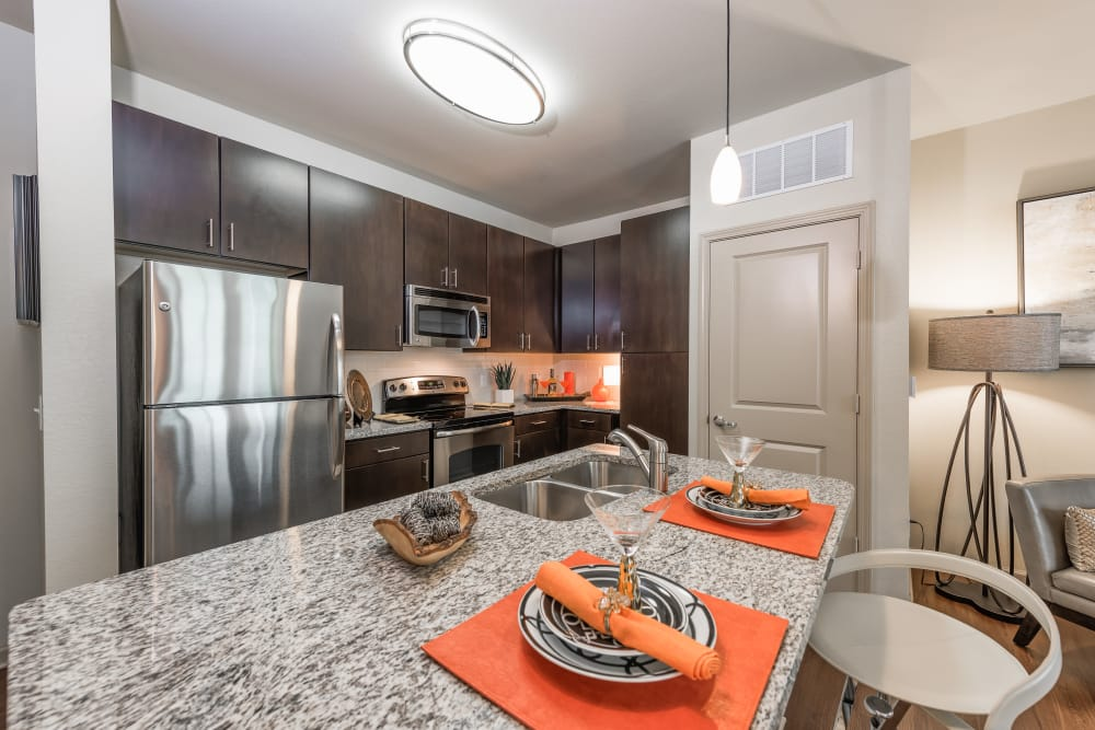Kitchen model at Jefferson Westshore in Tampa, Florida