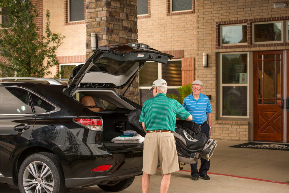 Easy transportation at Watermere at Woodland Lakes in Conroe, Texas