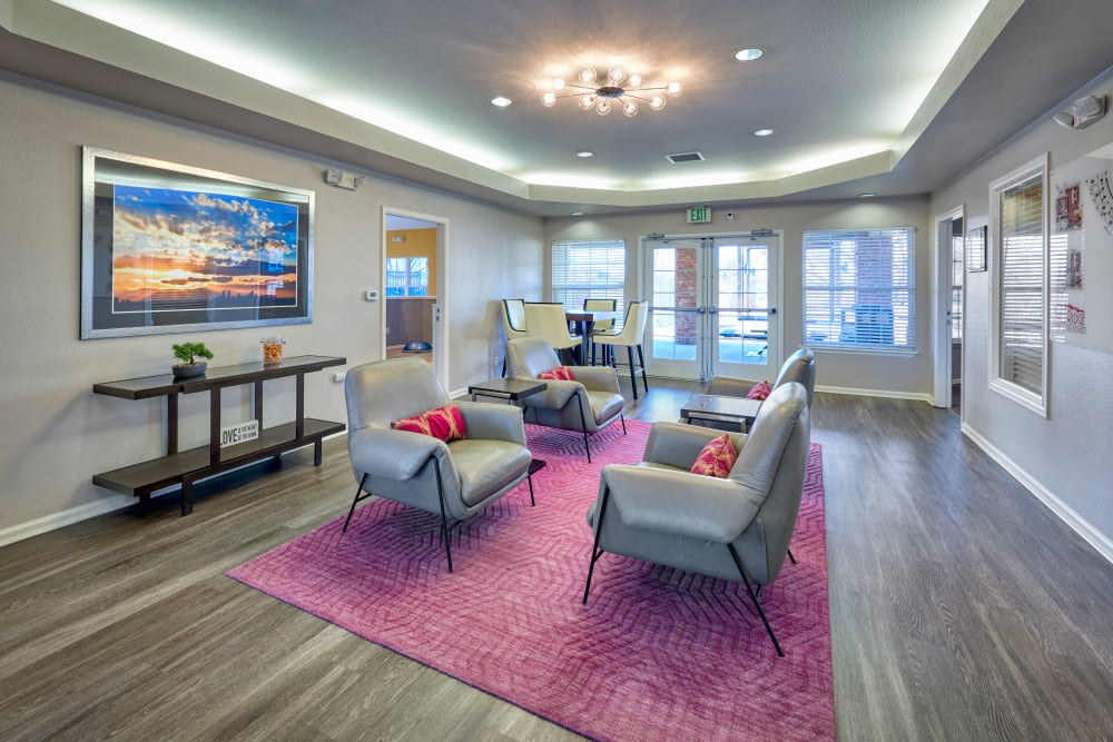 Community common area for resident use at Westridge Apartments in Aurora, Colorado