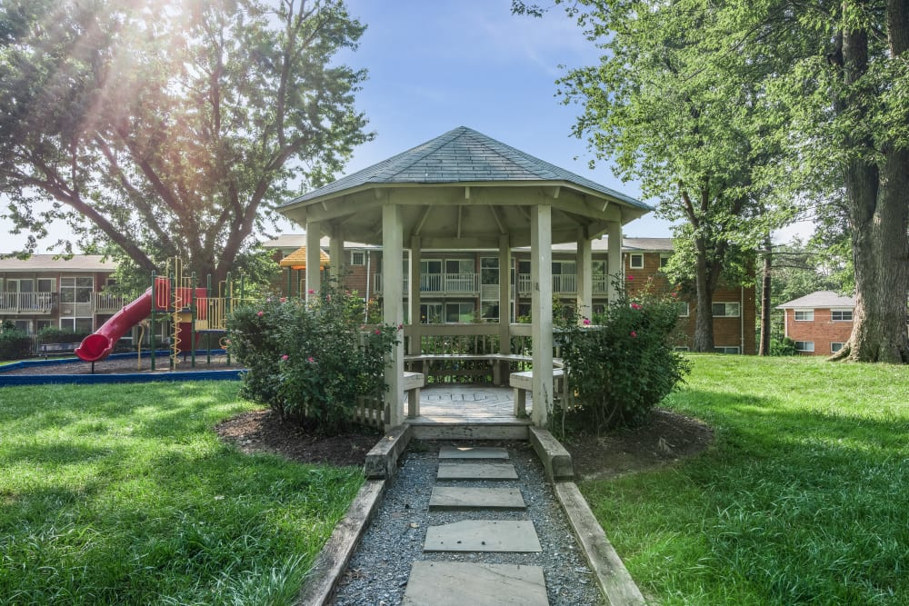 Beautiful gazebo at apartments in Rockville, Maryland
