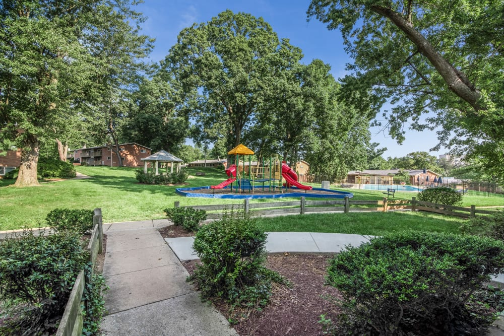 Fireside Park Apartments offers a state-of-the-art playground in Rockville, Maryland