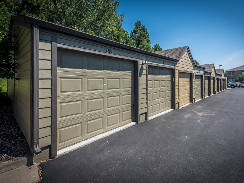 Garages available at Elevate at Red Rocks in Lakewood, Colorado