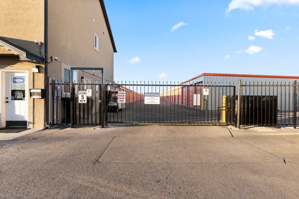 Gate access at Stor'em Self Storage in Payson, Utah