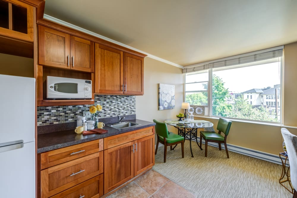 Studio apartment at Merrill Gardens at First Hill in Seattle, Washington