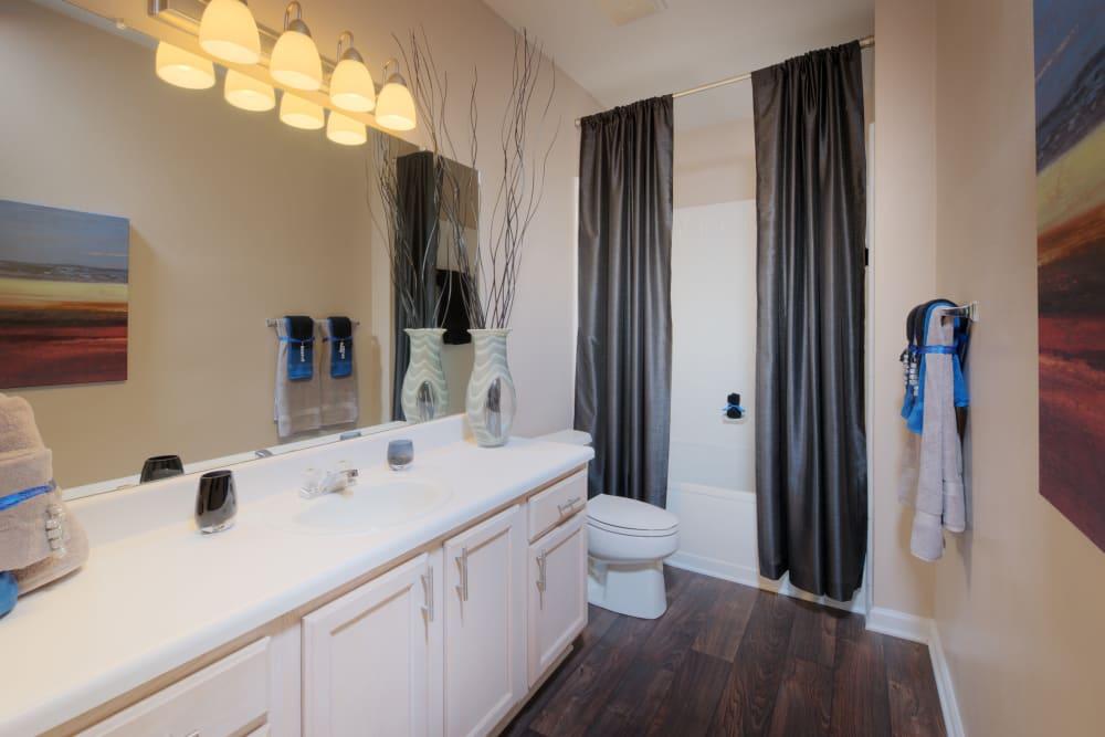 Spacious and stylish bathroom at Preston View in Morrisville, North Carolina