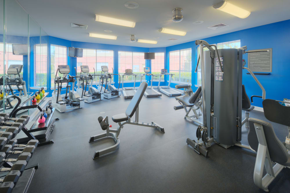 State of the art fitness center at Preston View in Morrisville, North Carolina
