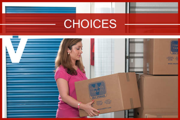 View our unit sizes and prices at Virginia Varsity Self Storage in Roanoke, Virginia