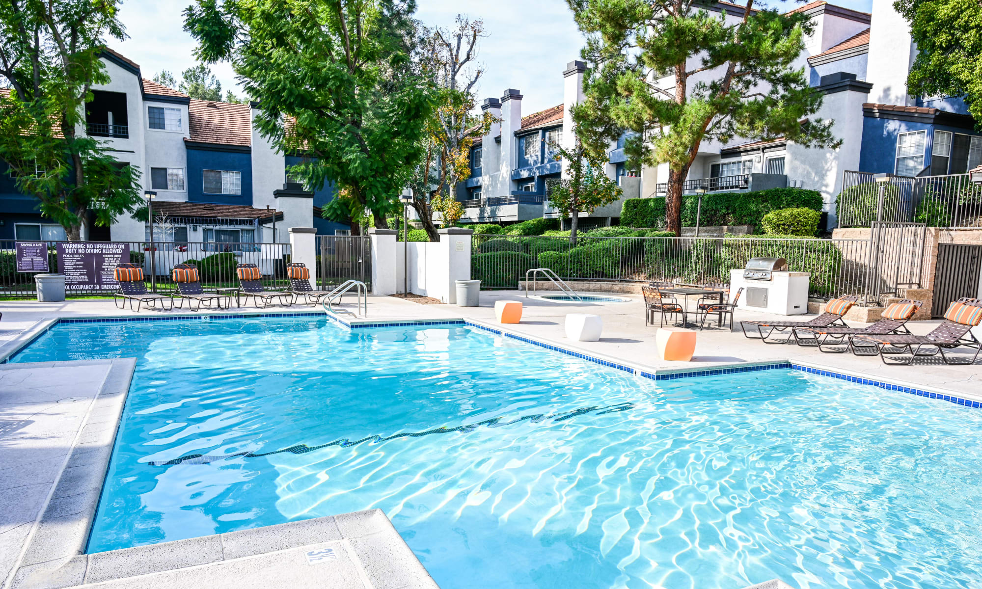 Pet friendly apartments with spacious outdoor areas at Sierra Heights Apartments in Rancho Cucamonga, California