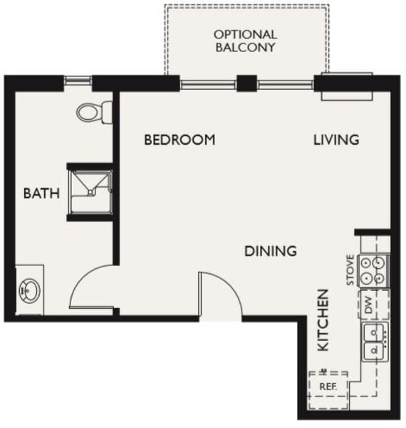 Plan G floor plans at The Inn at Greenwood Village in Greenwood Village, Colorado