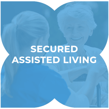 Secured assisted living at Harmony at Hope Mills in Fayetteville, North Carolina