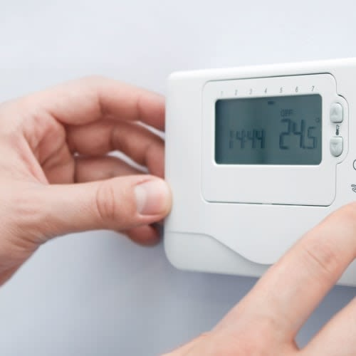 A thermostat for climate control near Red Dot Storage in Indiana, Pennsylvania