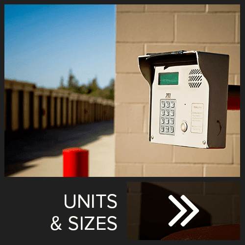 Unit sizes and prices at Placer Self Storage
