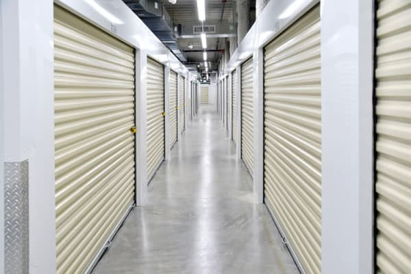 Well lit hallways at Edgemark Self Storage Arvada in Arvada, Colorado