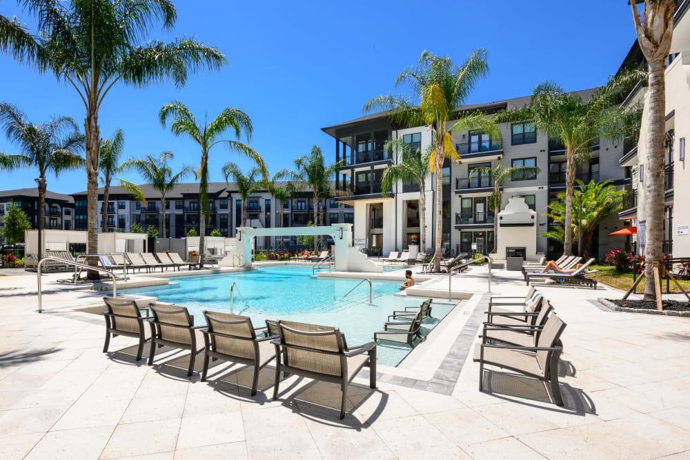 Sparkling pool at The Jaxon in Jacksonville, Florida