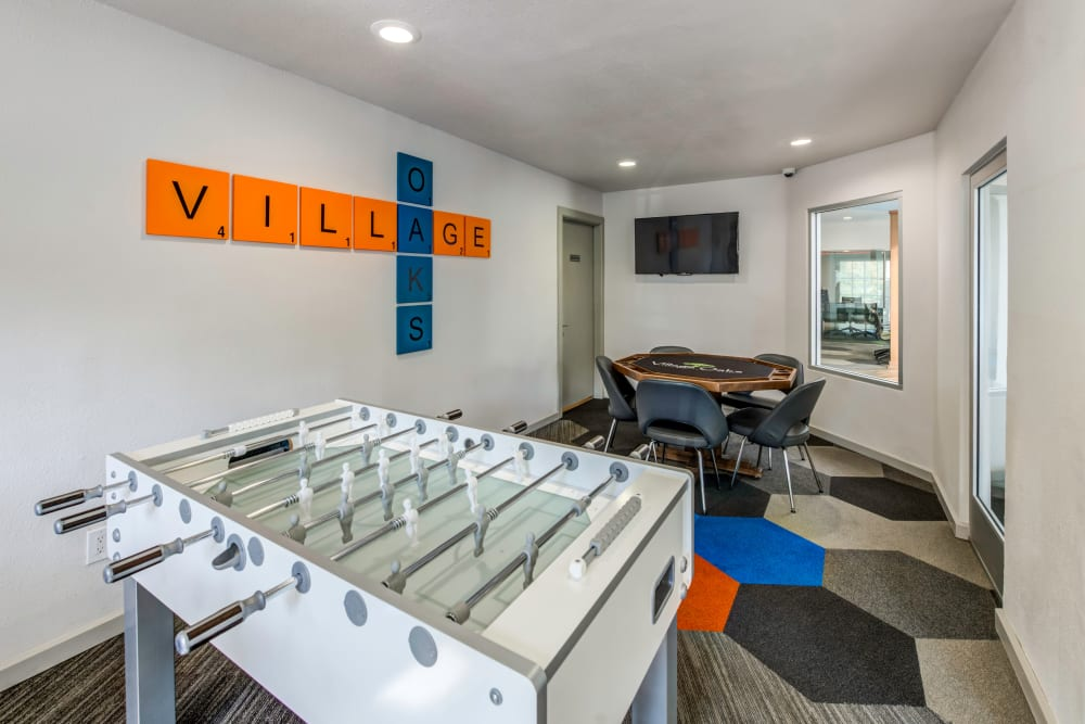 Game room at Village Oaks in Chino Hills, California