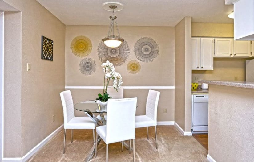 Dining room at Promontory Point Apartments in Austin, Texas