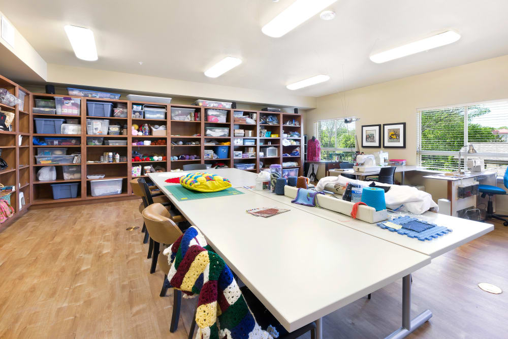 Craft room at Affinity at Southpark Meadows