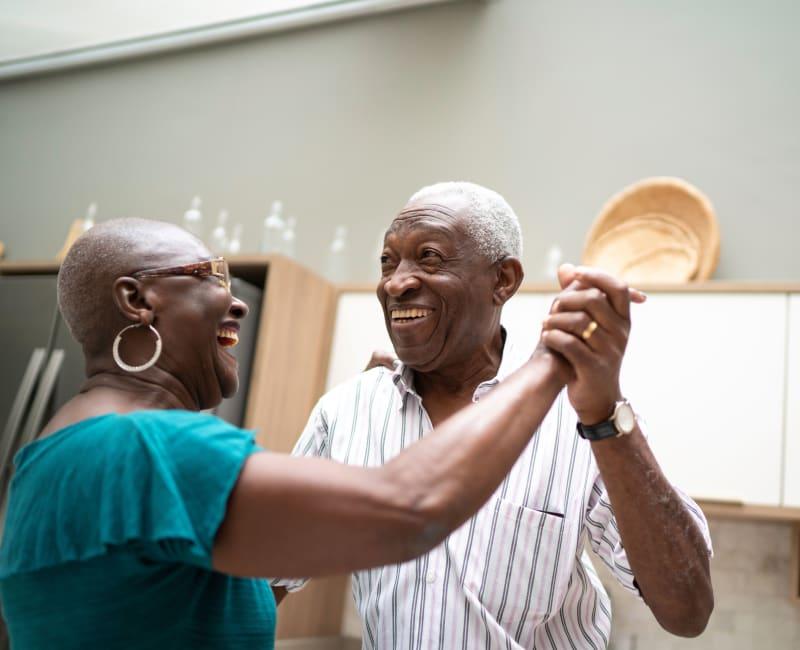 Residents dancing at York Gardens in Edina, Minnesota