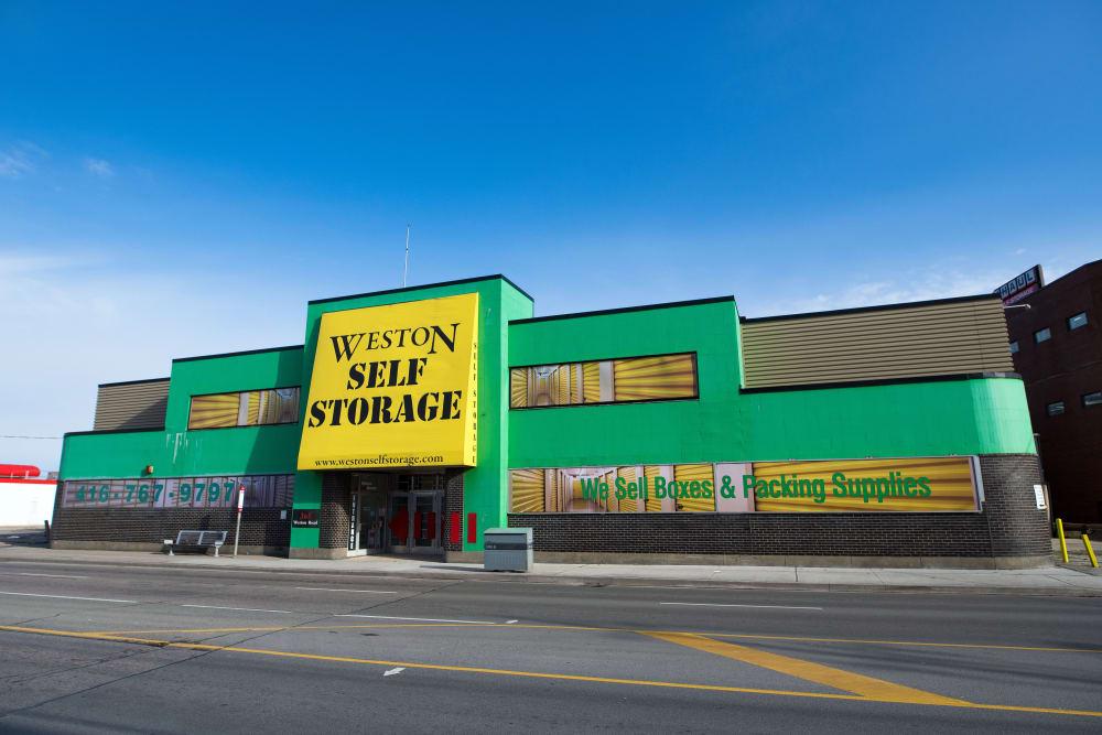 Front of Weston Self Storage in Toronto, Ontario