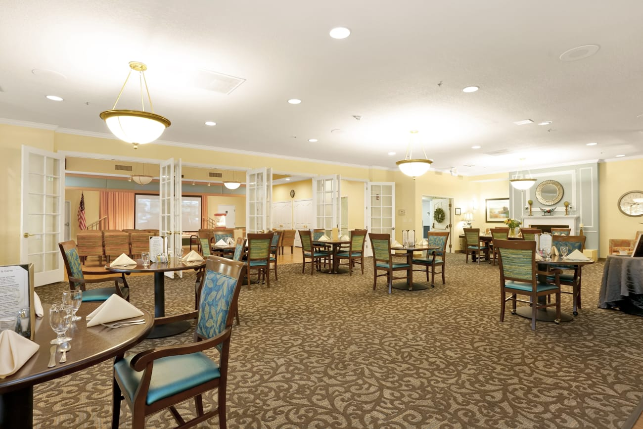 Our senior living community in Salt Lake City, Utah offer a dining area