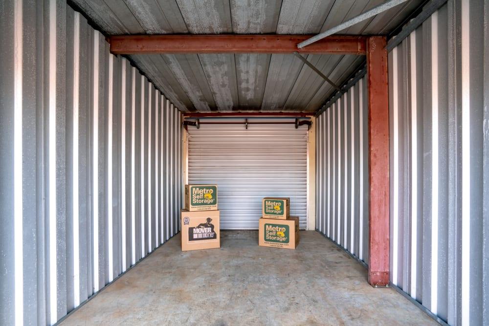 Open outdoor unit at Metro Self Storage in Alcoa, TN