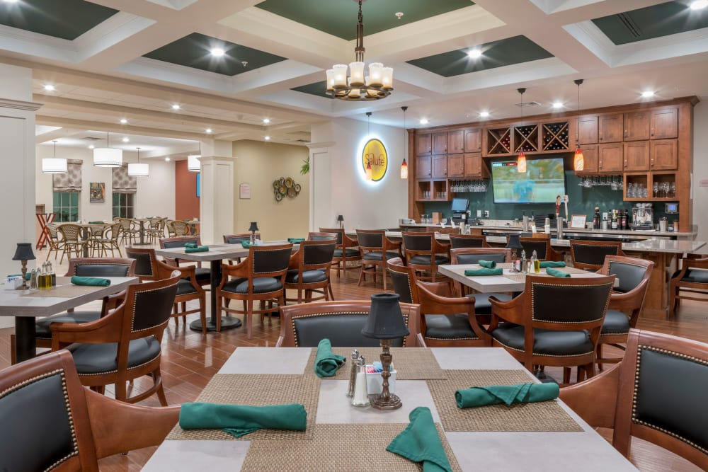 Additional dining room at Merrill Gardens at ChampionsGate in ChampionsGate, Florida