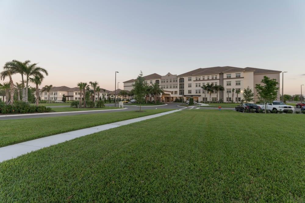 Entrance to Merrill Gardens at ChampionsGate in ChampionsGate, Florida.