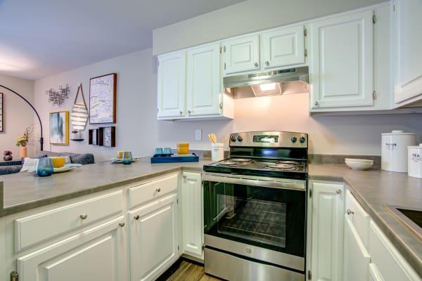 Kitchen amenities at Terra Martinez in Martinez, California