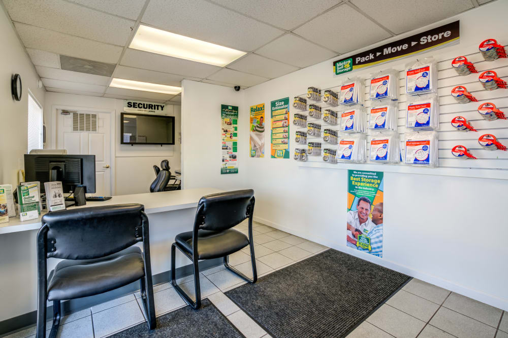 Inside the office at Metro Self Storage in Knoxville, TN