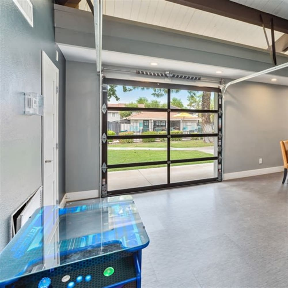 A clubhouse with a spacious game room at Argenta Apartments in Mesa, Arizona