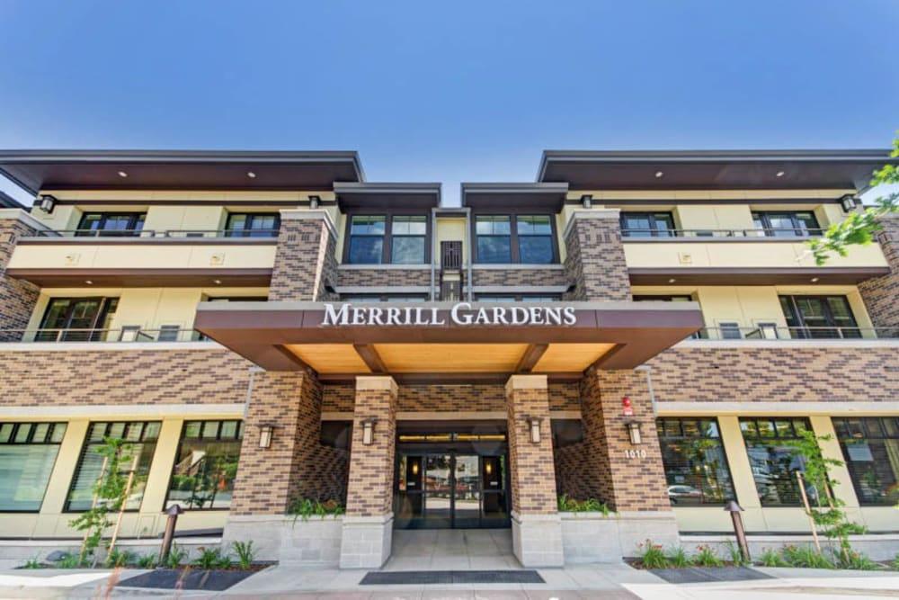 Entrance to Merrill Gardens at Lafayette in Lafayette, California.