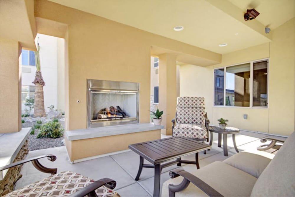 Seating at The Oaks, A Merrill Gardens Community in Gilbert, Arizona.
