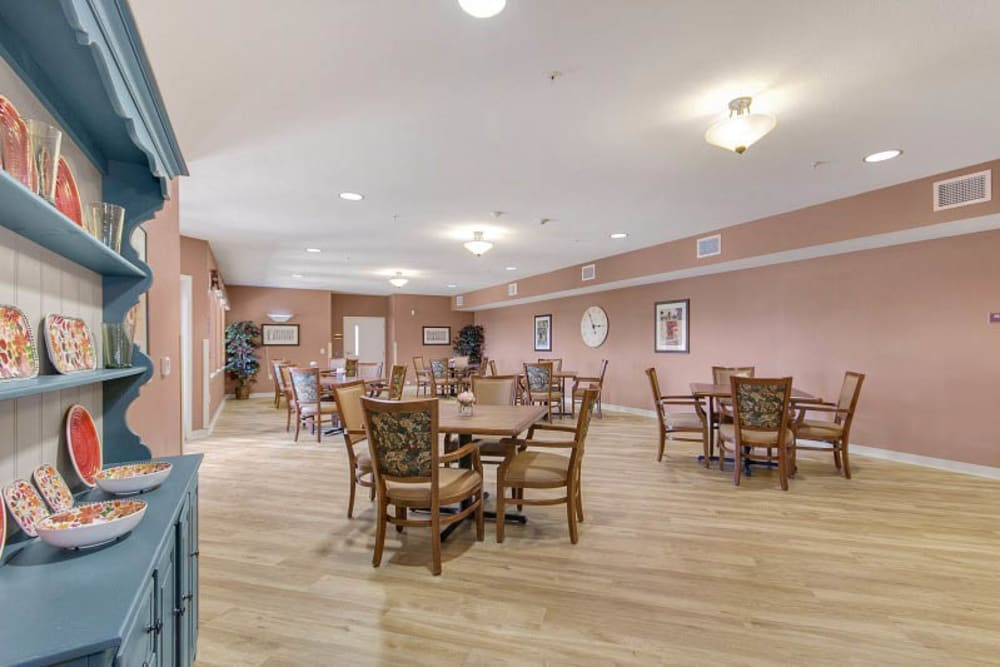 An Activity room at The Pines, A Merrill Gardens Community in Rocklin, California.