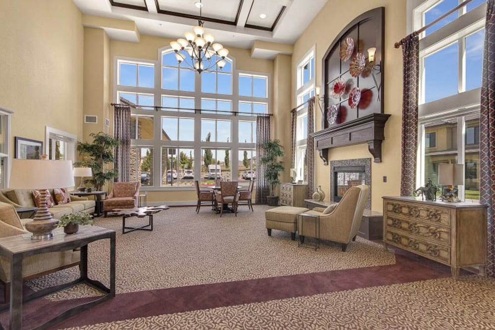 Lounge at The Pines, A Merrill Gardens Community in Rocklin, California.