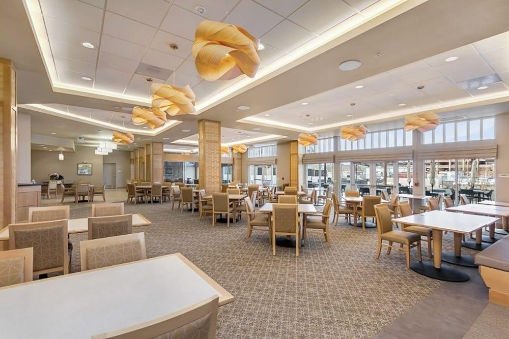 Large dining room at Merrill Gardens at Auburn in Auburn, Washington.