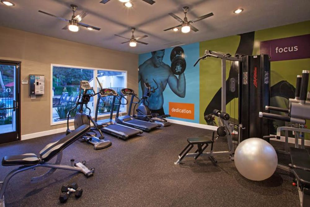 Fitness Center at Avana La Jolla Apartments in San Diego, CA