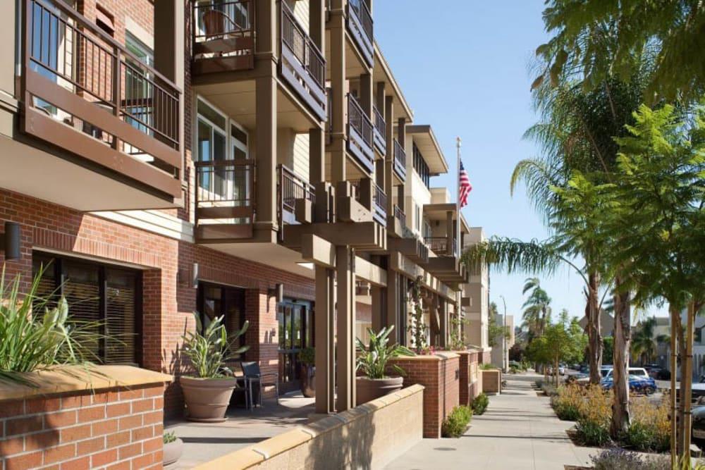 Sidewalk near Merrill Gardens at Bankers Hill in San Diego, California.