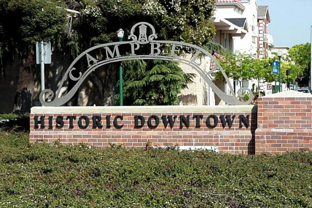 Historic downtown near Merrill Gardens at Campbell is in Campbell, California.