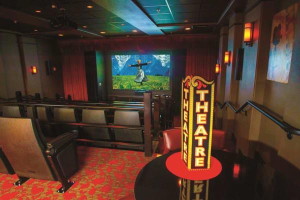 Movie theater at Ashwood Meadows Gracious Retirement Living in Johns Creek, Georgia