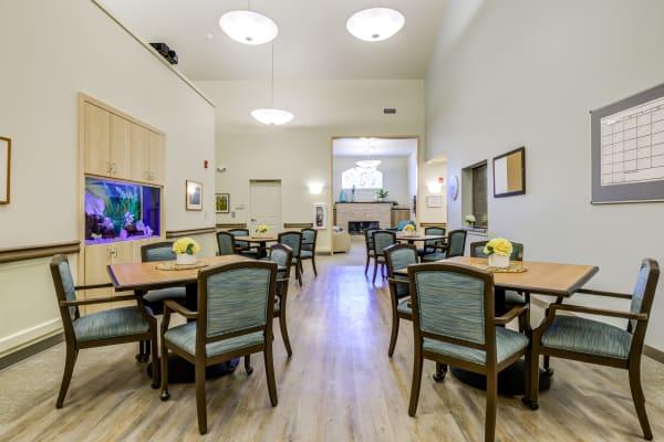 Dining room of Memory Haven in Sumner, WA