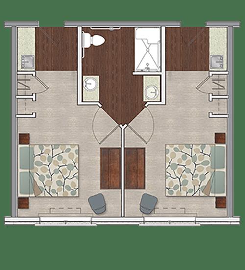 Semi-private memory care apartment at Stonecrest at Burlington Creek