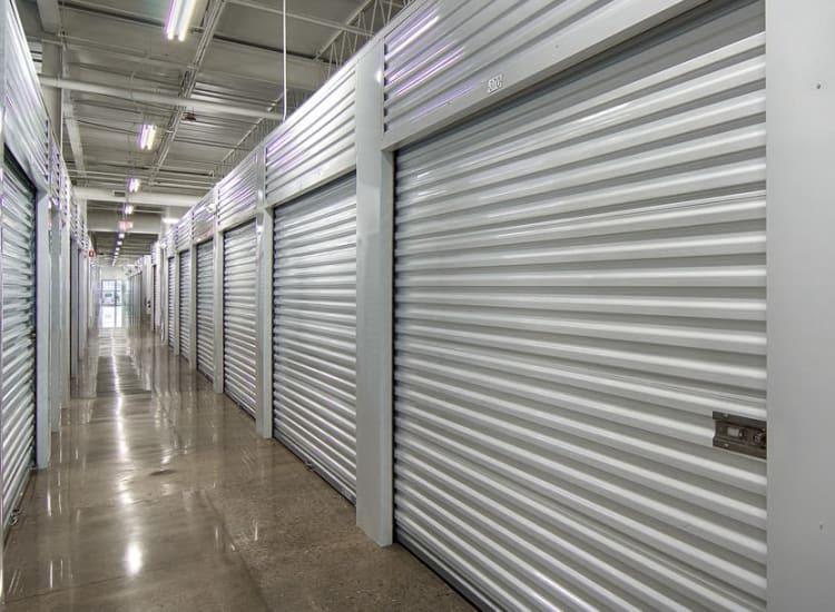 Indoor storage units at Metro Self Storage in Austell, Georgia