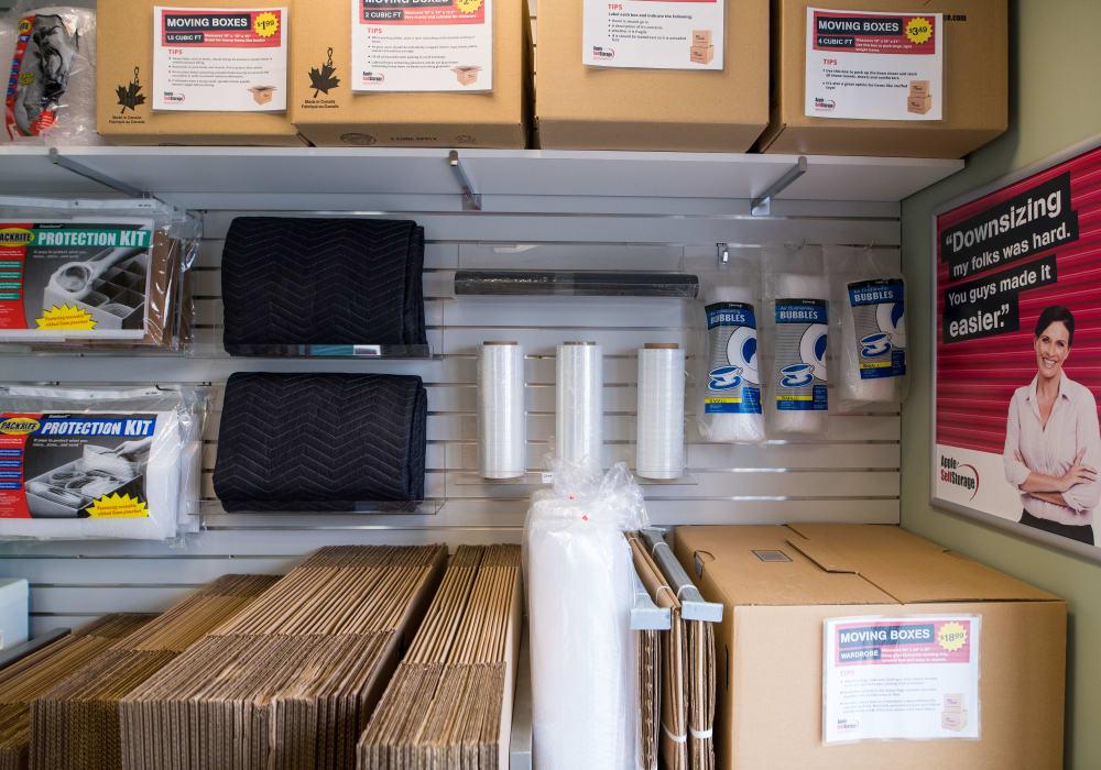 Packing supplies at Apple Self Storage - Aurora in Aurora, Ontario