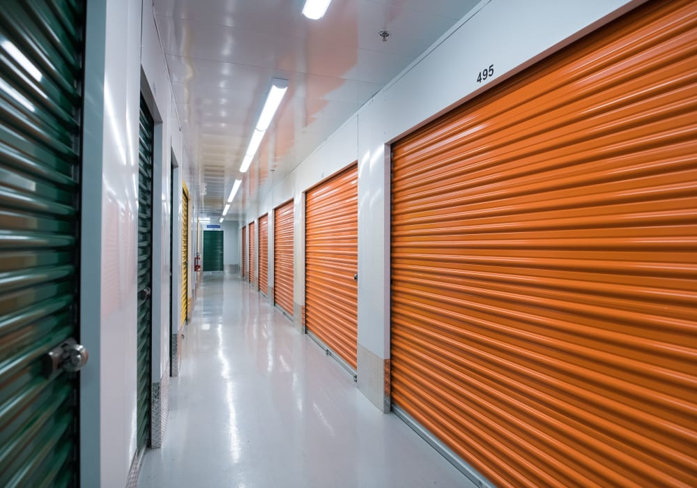 Interior units available at National Self Storage in Kitchener, Ontario
