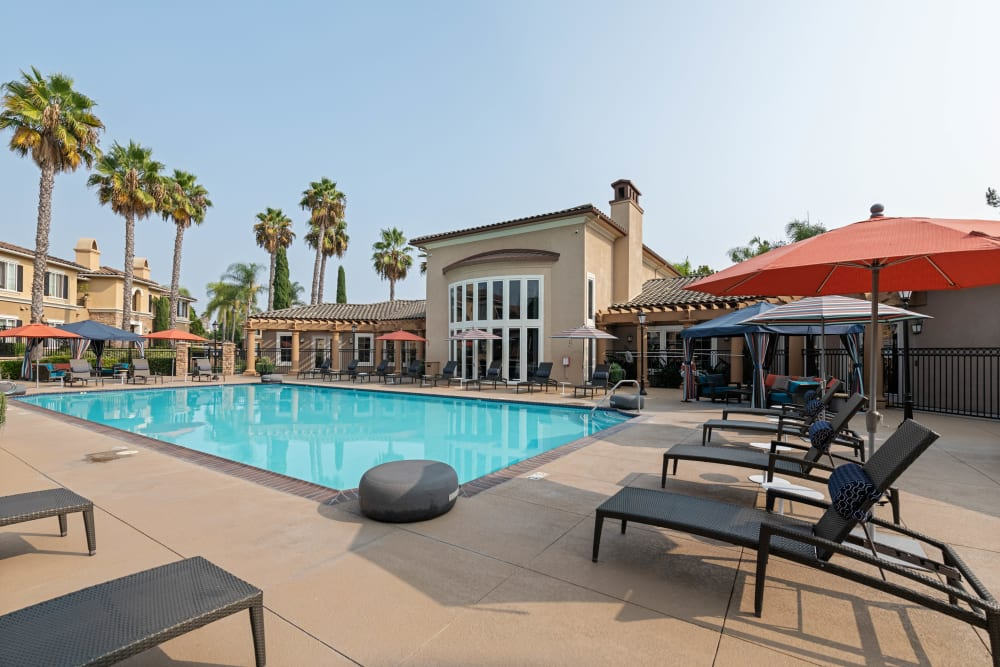 Resort-style swimming pool at Sofi Shadowridge in Vista, California